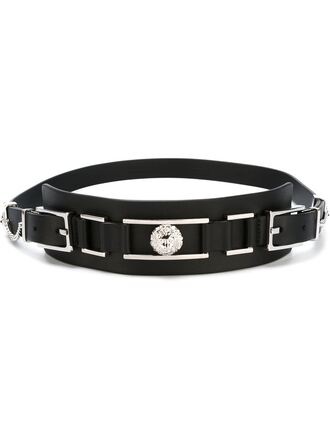 belt black belt versus versace designer waist belt medium-size belt