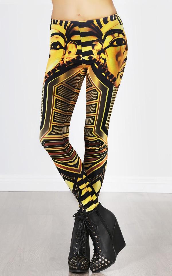Yellow egyptian pharaoh leggings