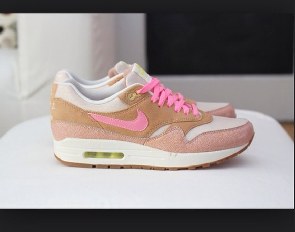 shoes salmon white nike air max rose