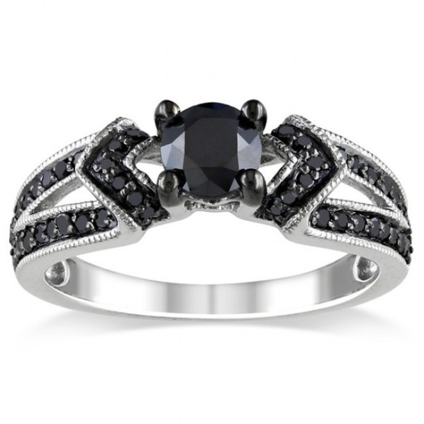 Jewels ring women fashion rings black diamond ring engagement ring promi