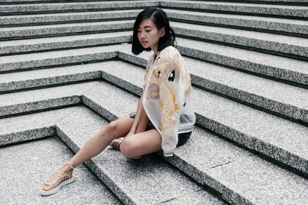 ordinary people jacket skirt shoes