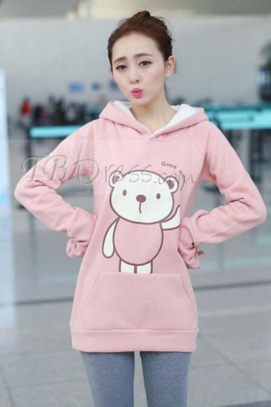 hoodie bear winter sweater tbdress-club tbdress