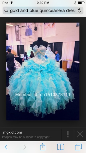 dress quinceanera dress tiffany blue