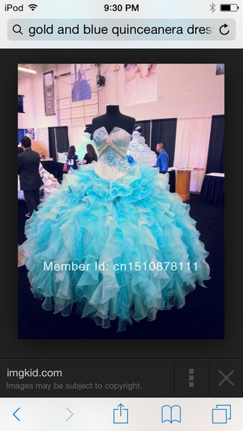 dress quinceanera dress tiffany blue