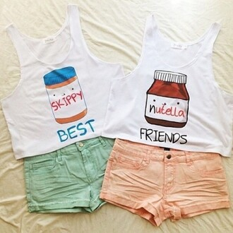 tank top white crop tops