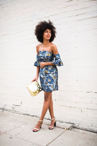 style me grasie blogger dress shoes mini dress off the shoulder dress sandals summer outfits topshop asos floral dress