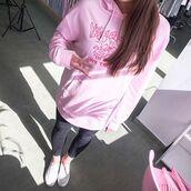 sweater,yeah bunny,sweatshirt,oversized,pink,pastel,dog,doglover,frenchie