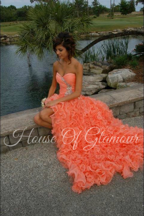 9d3020d68549 Mac Duggal coral prom dress from House Of Glamour on Storenvy