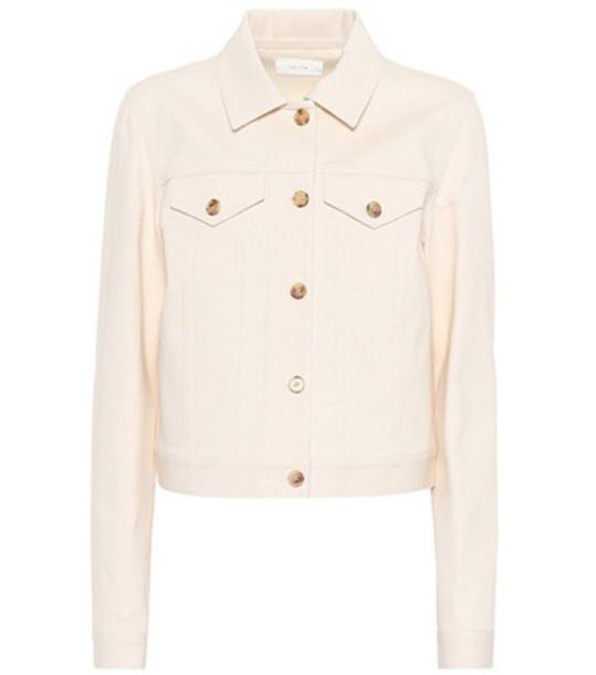 The Row jacket denim jacket denim white