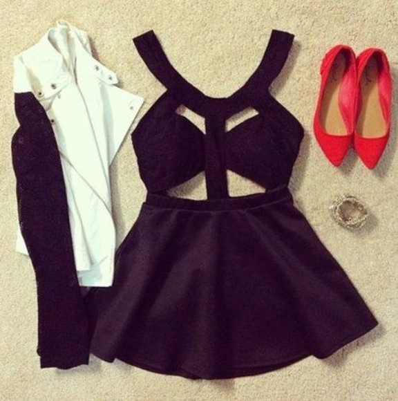dress little black dress jacket