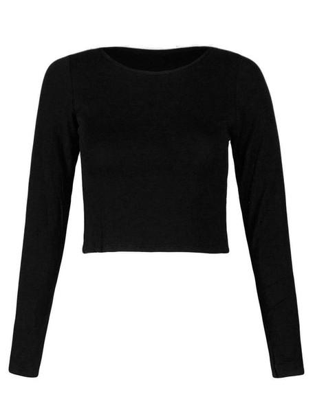 48b2e444d6 t-shirt, crop, cropped t-shirt, long sleeved top, long sleeved t ...