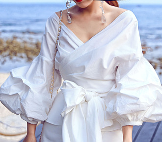 shirt white shirt white t-shirt white tee long sleeve tops white top bow shirts bow white shirts v neck tops v neck t shirt v neck shirt