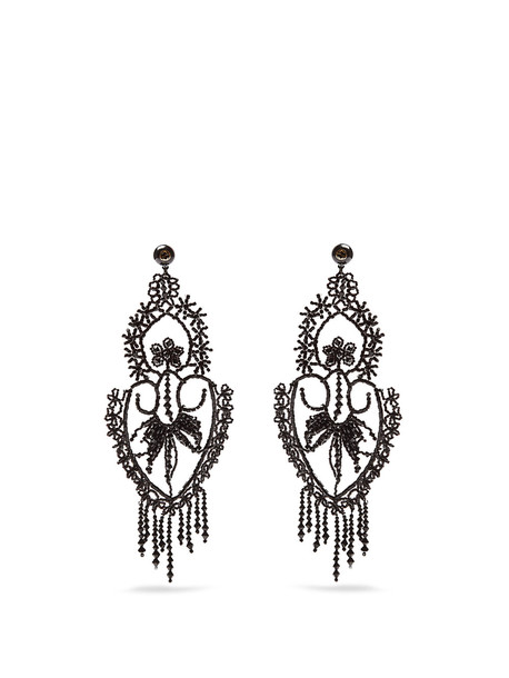 gucci embellished earrings black jewels