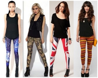 leggings union jack aztec chevron camouflage galaxy print pants sports leggings