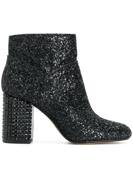 MICHAEL Michael Kors glitter women ankle boots black shoes