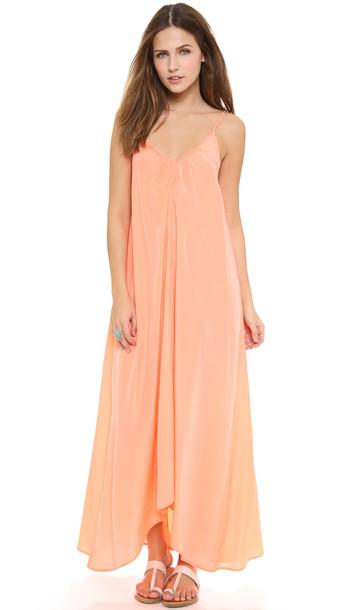 One By Pink Stitch Resort Maxi Dress - Peach