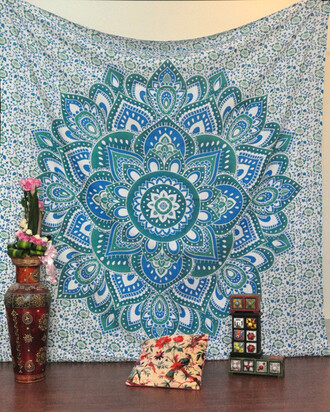home accessory tapestry mandala wall hanging queen bedspread hippie tapestries queen bedcover indian bedspread coverlet sofa throw couch throw table runner holiday gift wall decor hippie bohemian tapestry jaipurhandloom tapestries indian tapestries living room decoration