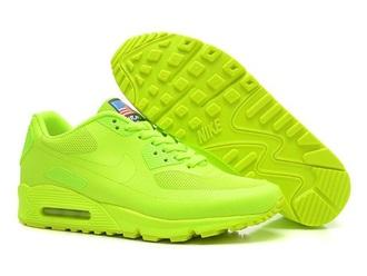 shoes nike air air max neon neon yellow
