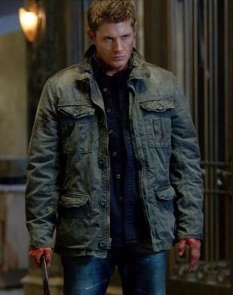 jacket green jacket jensen called supernatural jensen ackles