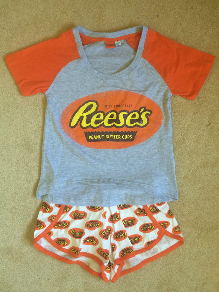 e3e8d7a37ff6 Reese s Peanut Butter Cups Chocolate Pyjamas Sets Shorts Women s ...