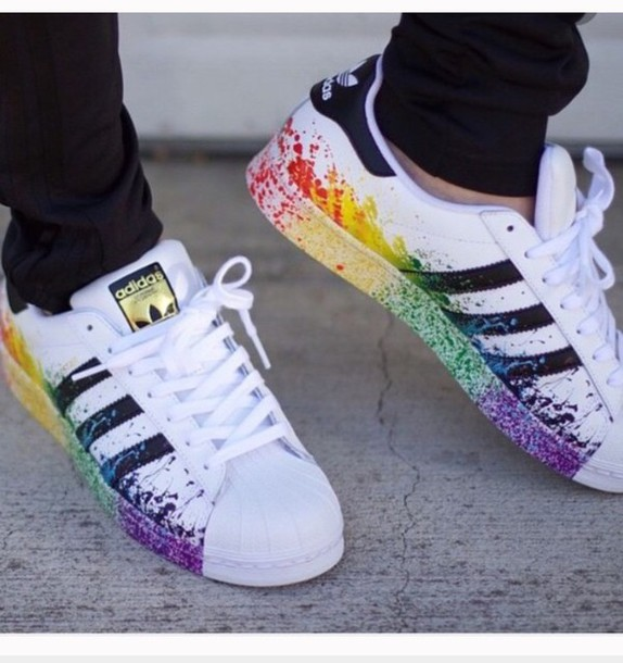Adidas Superstar LGBT Pride Pack D70351 White/Black Rainbow
