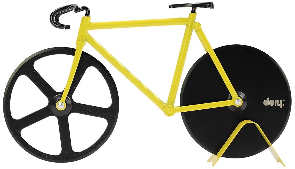 Amazon.com: Pizza Cutter - Bicycle Pizza Cutter: Black & Yellow: Kitchen & Dining