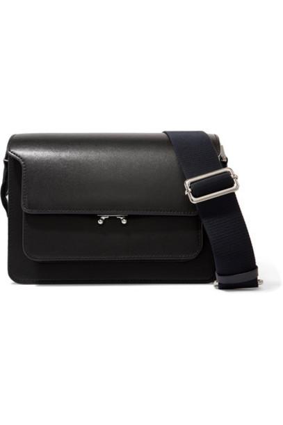Marni - Trunk Leather Shoulder Bag - Black