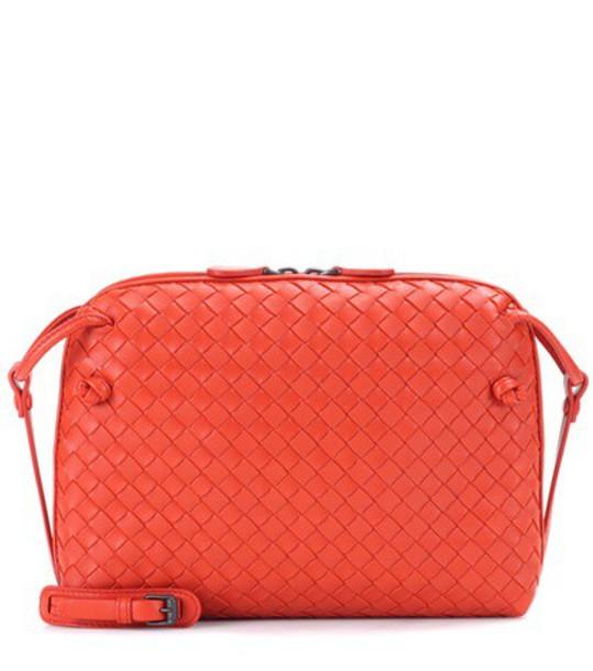 Bottega Veneta bag crossbody bag leather orange