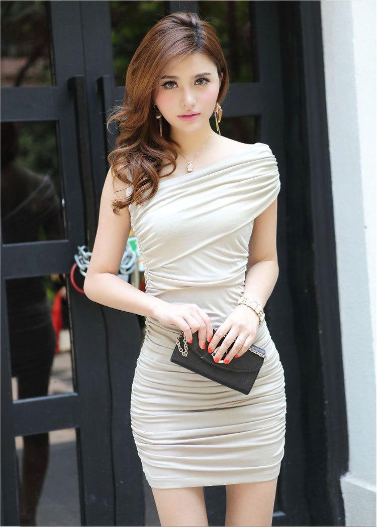 compre 2014 mulheres sexy bodycon mini vestido de um ombro vestido de festa. Black Bedroom Furniture Sets. Home Design Ideas
