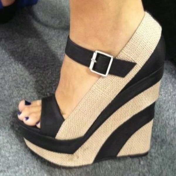 wedges shoes fashion stripes black and brown wedge platform shoes striped wedges streetstyle sandals black white shoes dress black and nude neutral liliana paxton5 wedge liliana black nude wedge