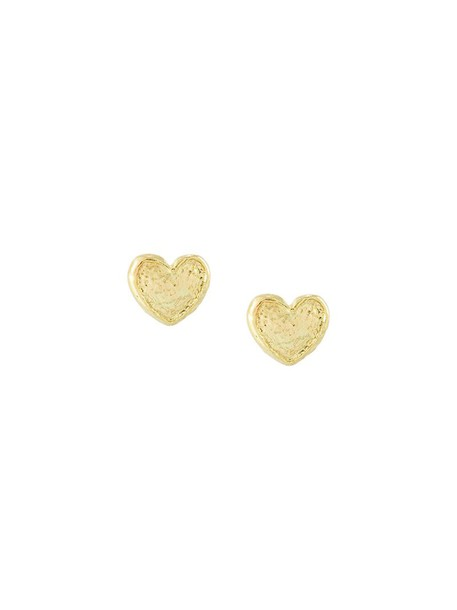 Carolina Bucci women love earrings gold grey metallic jewels