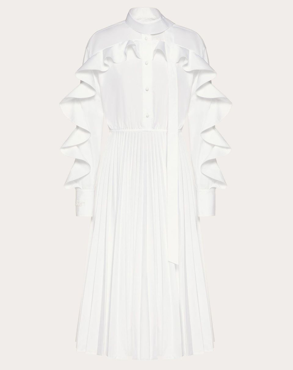 Valentino Technical Poplin Midi Dress