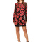 Just cavalli all over lips long sleeve runway dress