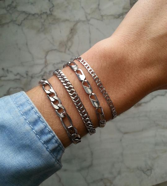 Stainless Steel Collection - Layering Chain Bracelets