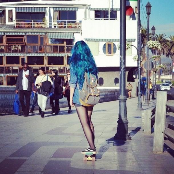 Bag: vans, skateboard, hair, skater, backpack - Wheretoget