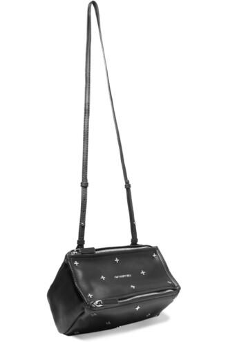 mini embellished bag shoulder bag leather black black leather