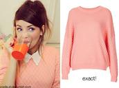 sweater,pink,jumper,zoe sugg,zoella