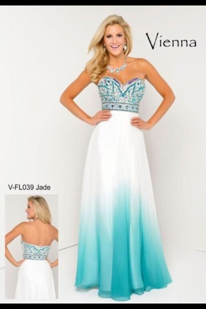 dress, blue dress, prom dress, long prom dress, jade dress - Wheretoget