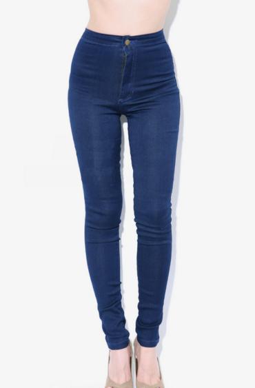 Blue High-Waisted Jeans