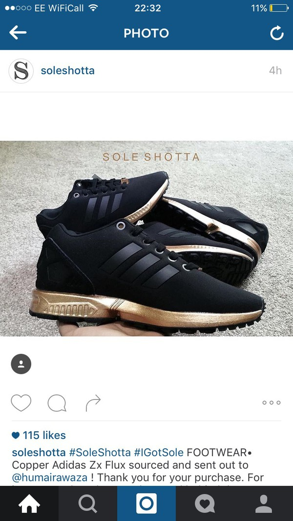 adidas black and gold trainers zx