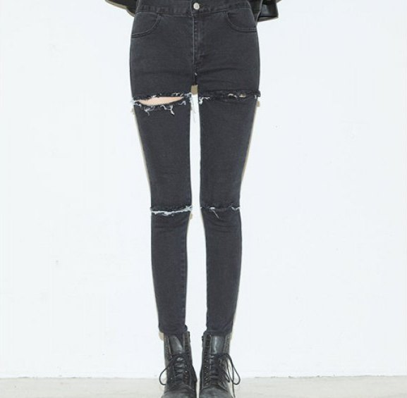 Lola torn black skinny jeans · nouveau craze · online store powered by storenvy