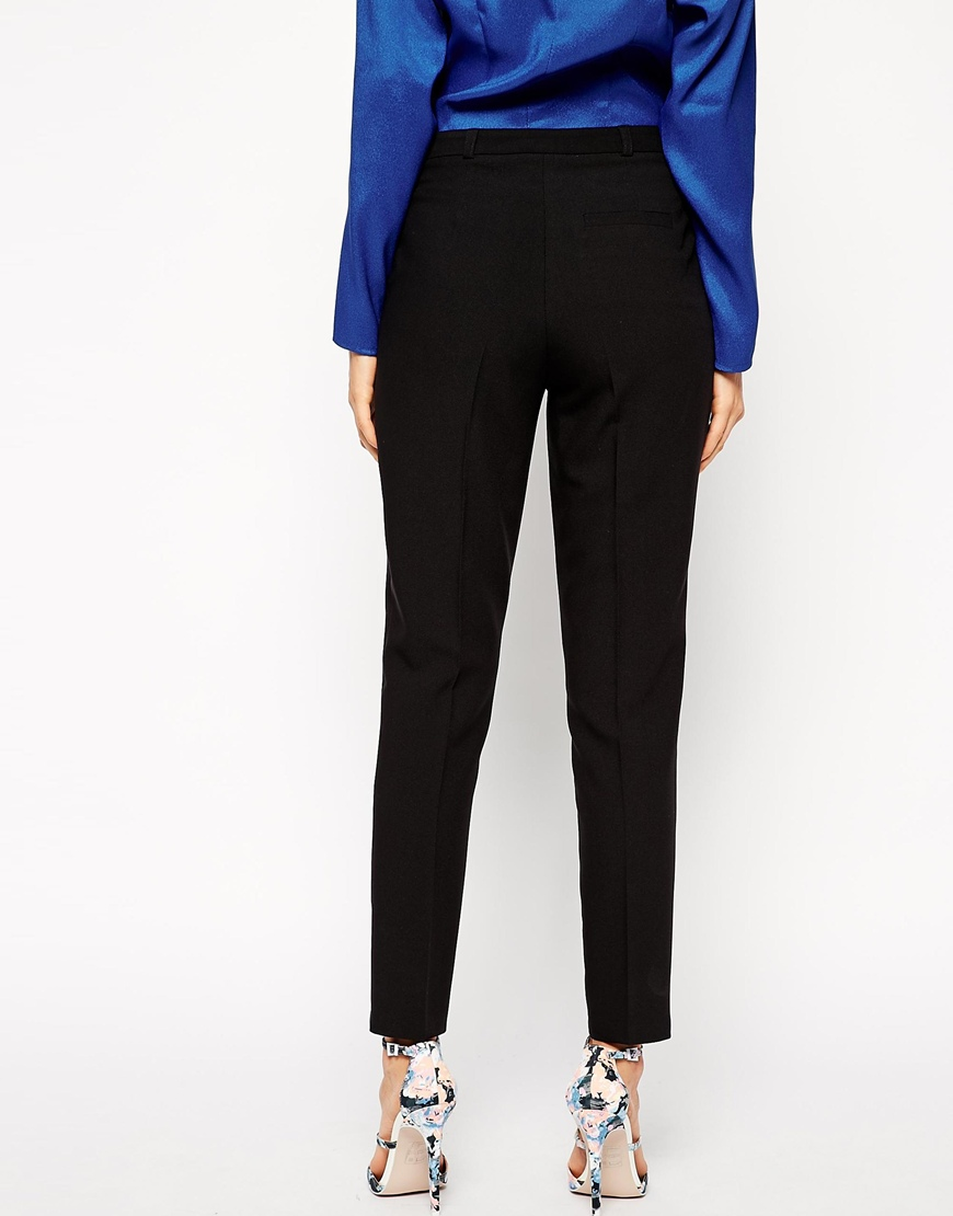 ASOS Cigarette Trousers In Crepe at asos.com