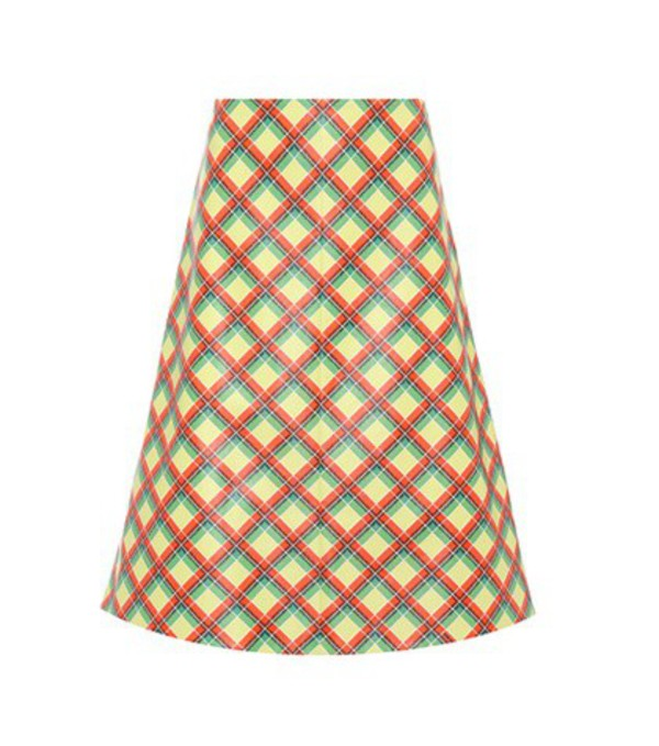 Miu Miu Plaid leather skirt