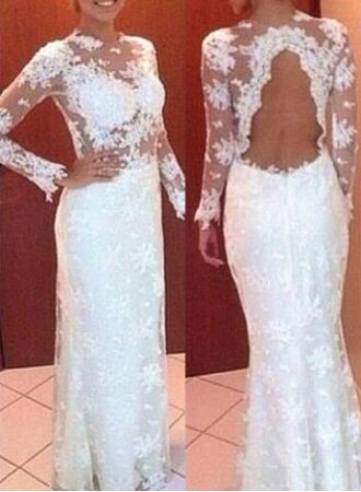 dress white wedding gown flowers prom open back feminine fashion style maxi dress long