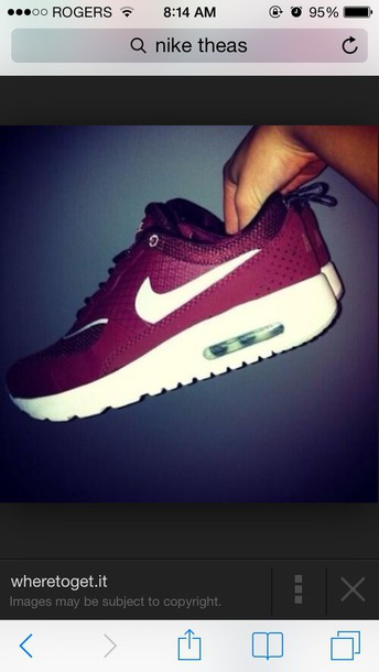 shoes i love! burgundy shoes nike air nike air max thea nike running shoes tank top