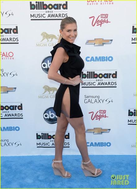 dress waist high slit dress