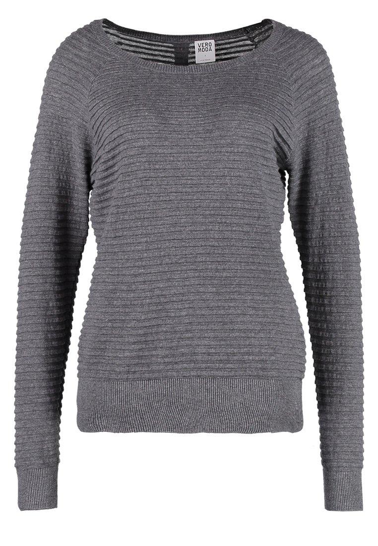 Vero Moda FOREVER - Strickpullover - medium grey melange - Zalando.ch
