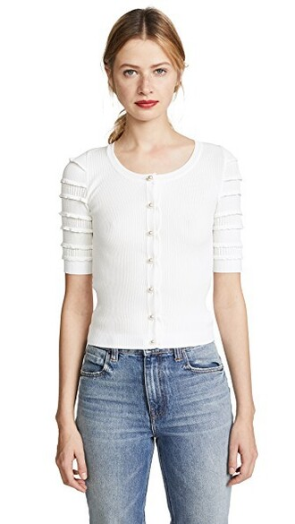 cardigan white sweater