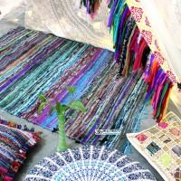 Turquoise Chindi Rug