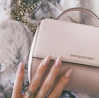 bag nail polish givenchy bag blush pink pastel bag givenchy handbag classy